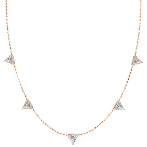 White Gold Diamond Disc Royal Necklace