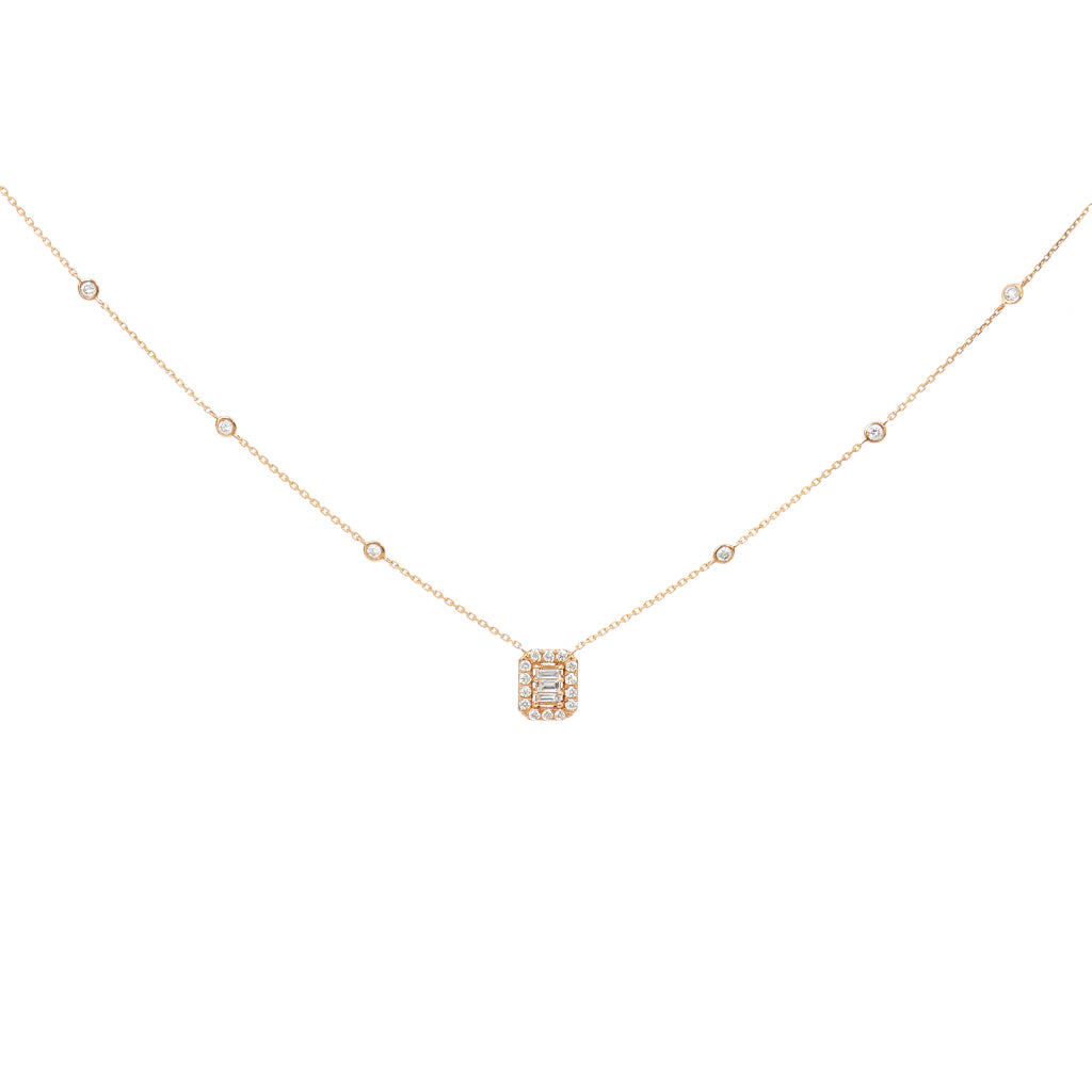 2f16249aa Baguette Diamond Pendant Necklace – Kai Linz Jewelry