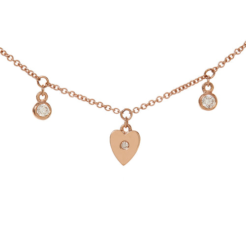 Demi Heart and Diamond Necklace