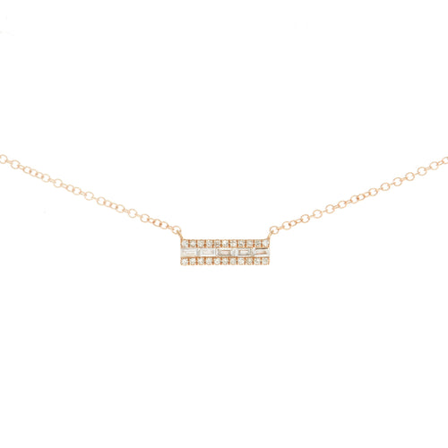Baguette Cinq Bar Necklace