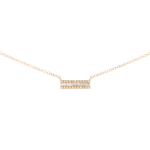 Mila Floating & Bezel Diamond Necklace