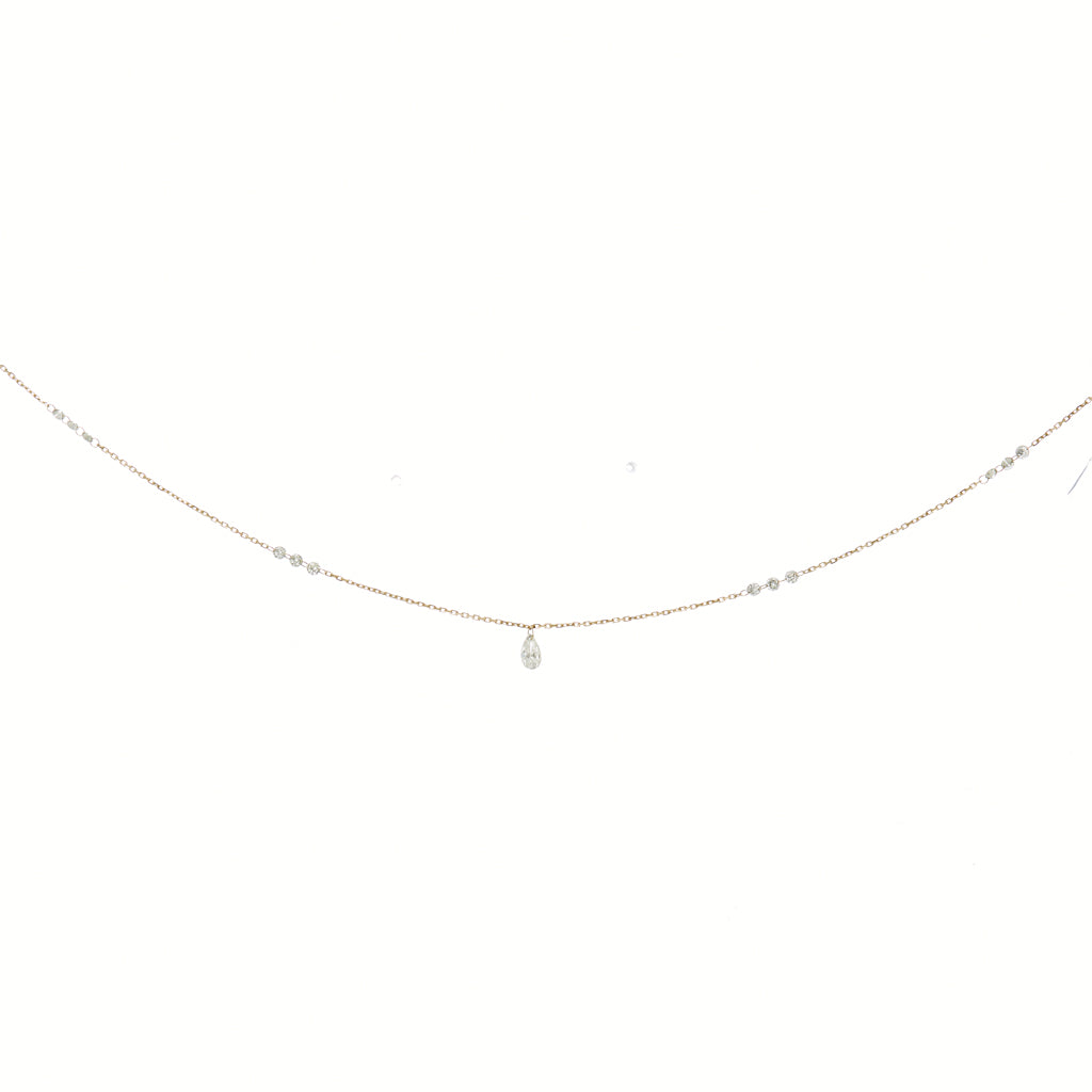 Contrast Diamond Floating Necklace