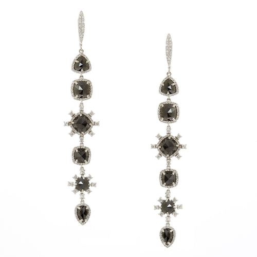 Adeline Black Drop Earrings