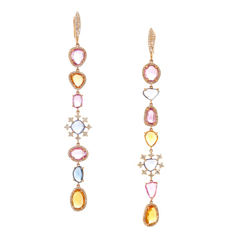 Camilla Pink Drop Earrings