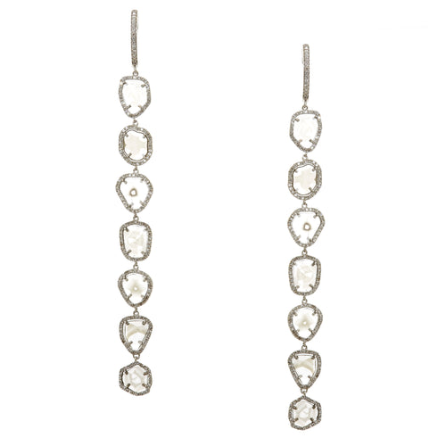 Riley Sliced Diamond Drop Earrings