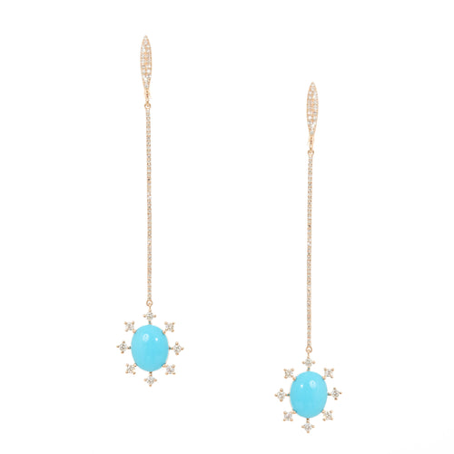 Osiris Turquoise Drop Earrings