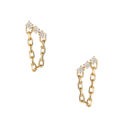 Saint Diamond Chain Studs