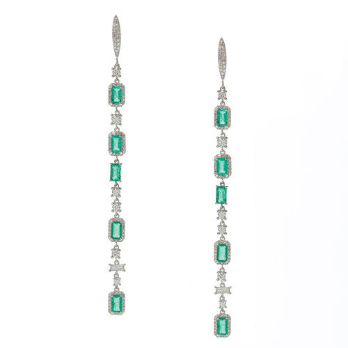 Sylvester Emerald Drop Earrings