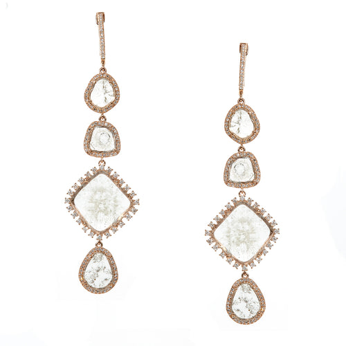 Quad Slice Diamond Earrings