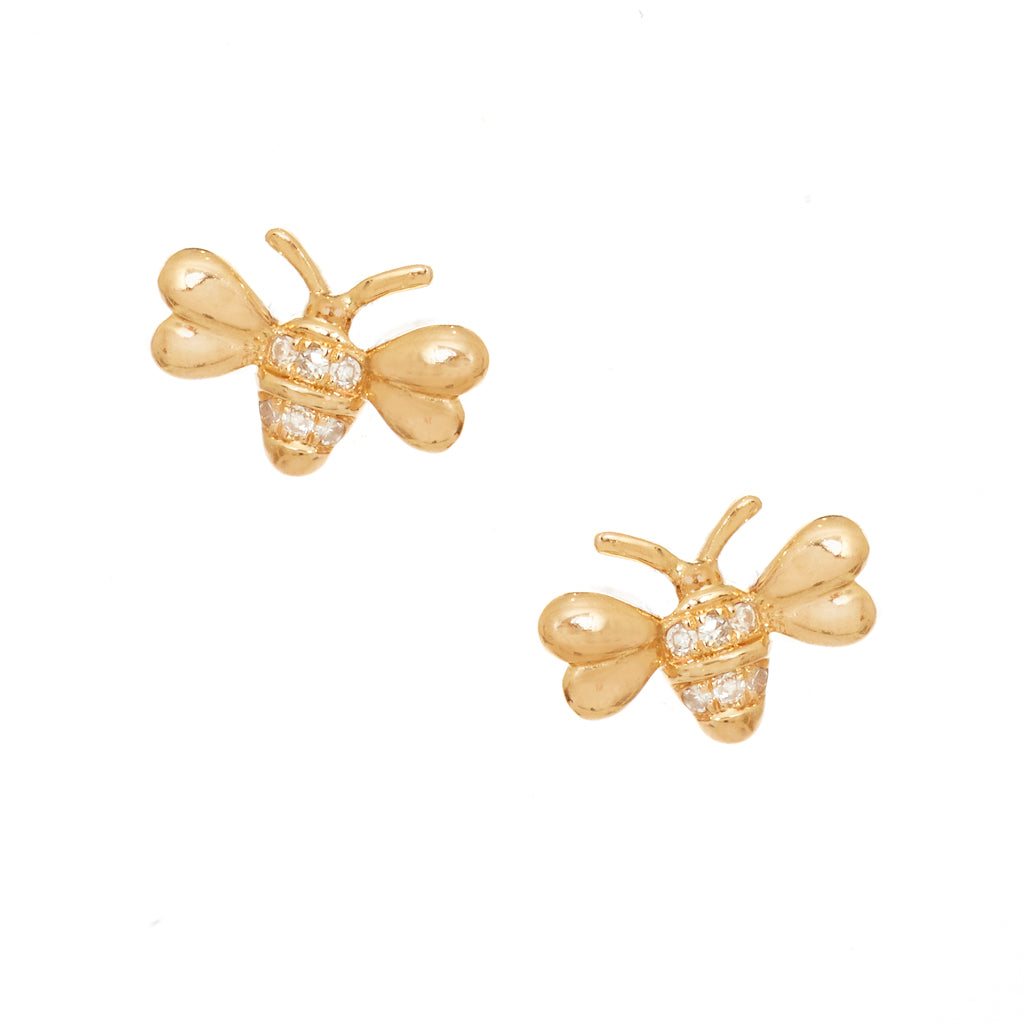 Mini Bumblebee Stud Earrings