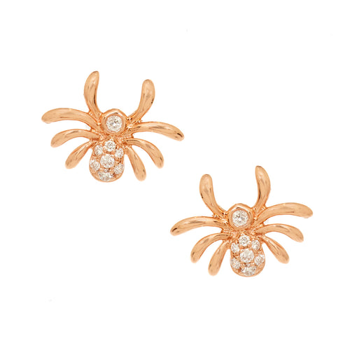 Diamond Spider Stud Earrings