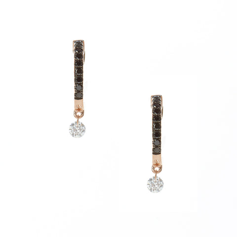 Double Sliced Diamond Earrings