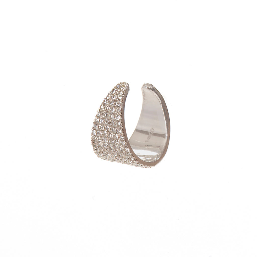 Multi Pave Row Ear Cuff