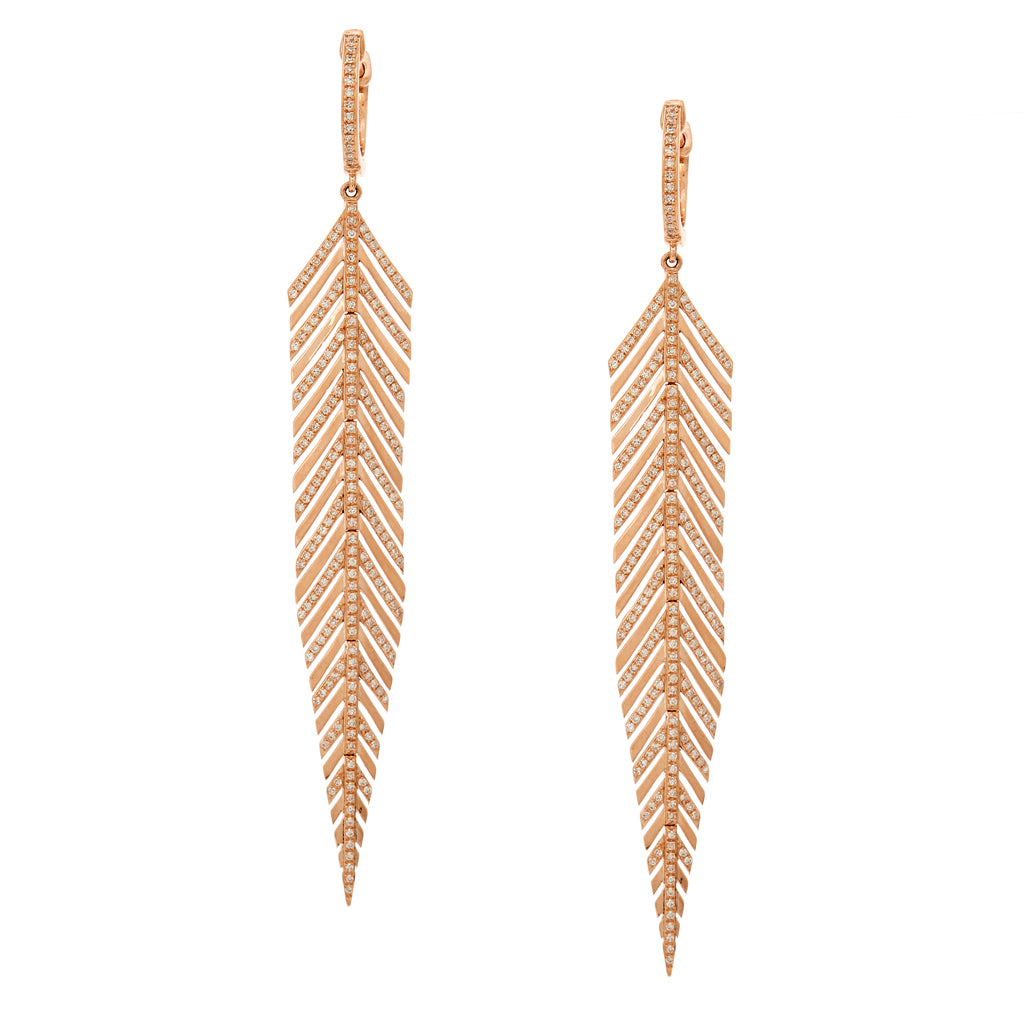 Amelia Feather Earrings