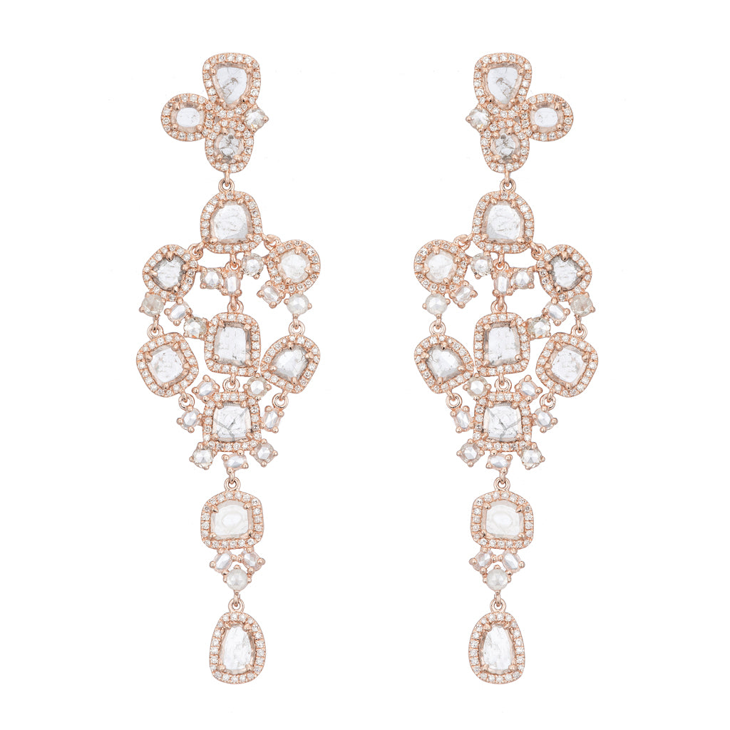 Slice Diamond Chandelier Earrings