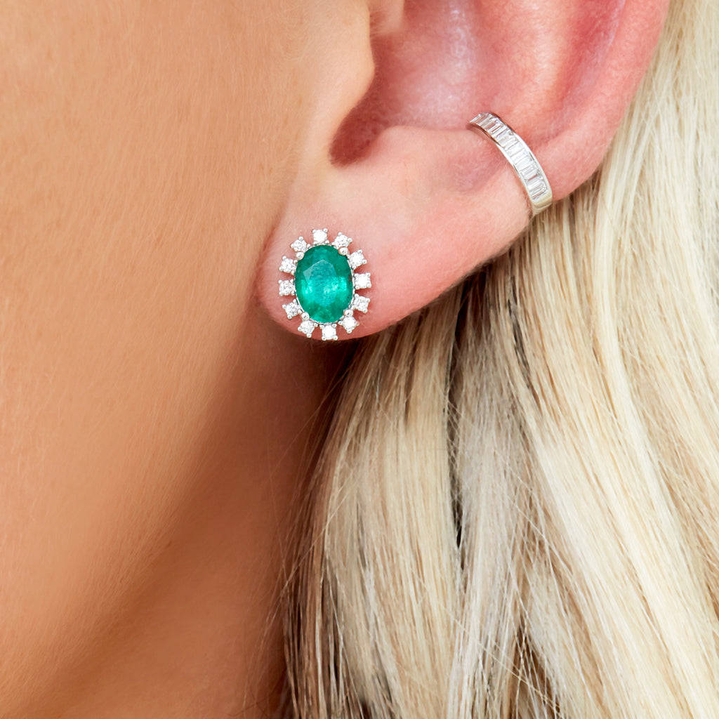 Ella Emerald Post Earrings