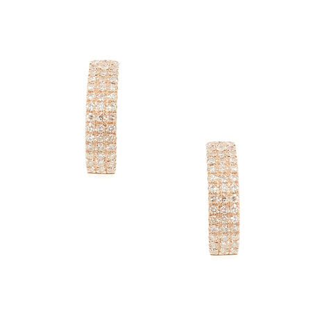 18K Gold 10 Diamond Ear Cuff