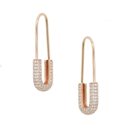 Mini Safety Pin Earrings