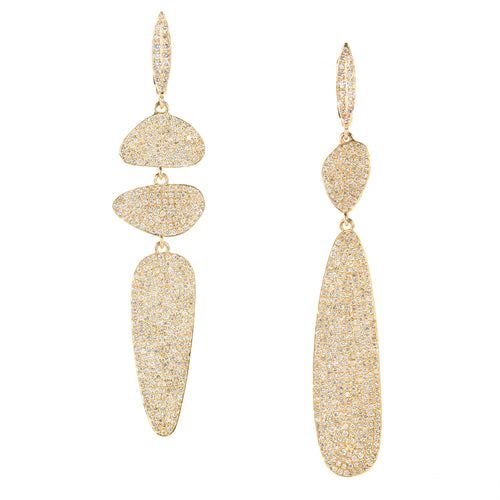 Diamond Pique Drop Earrings