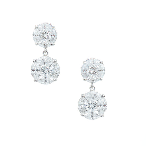 Infinity 2-Drop Diamond Oval Studs