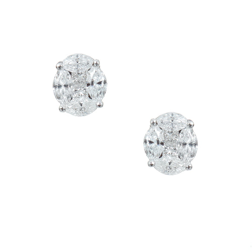 Infinity Oval Diamond Studs
