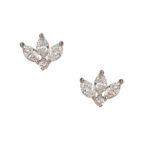 Roma Diamond Heart Studs