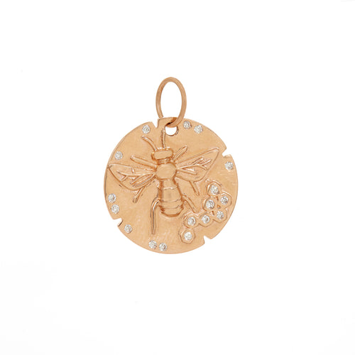 Honey Bee Disc Pendant
