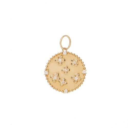 FLoral Diamond Disc Charm