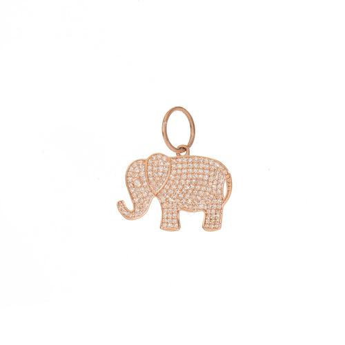 Diamond Elephant Pendant