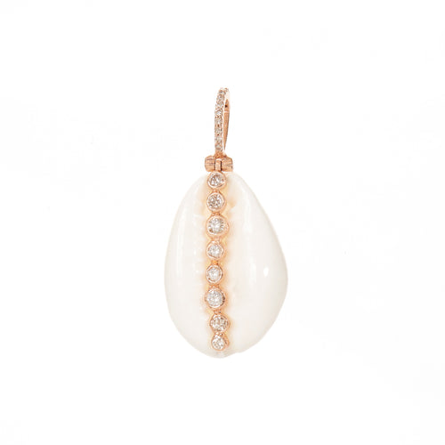 Diamond Puka Shell Pendant