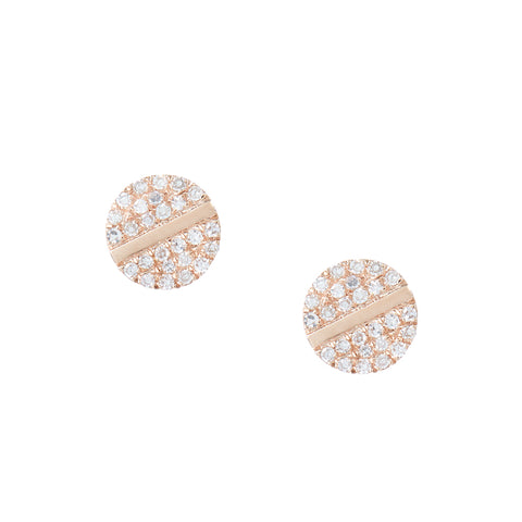 Mini Pave Eye Studs