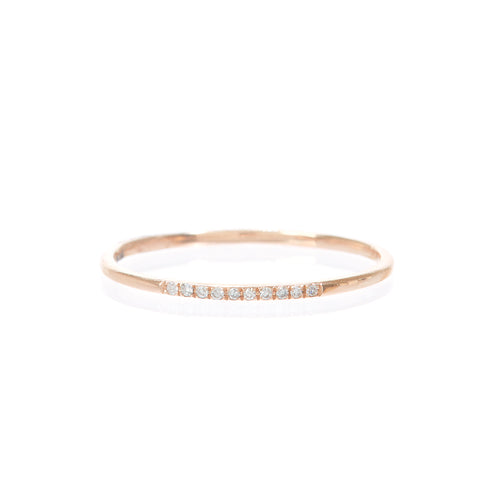 Baguette Diamond Shield Ring