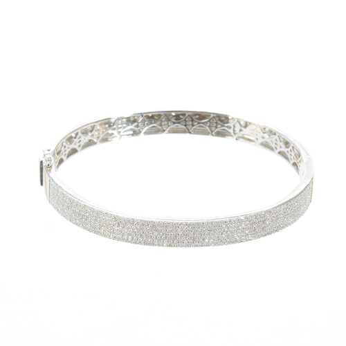 Frosted Diamond Bangle