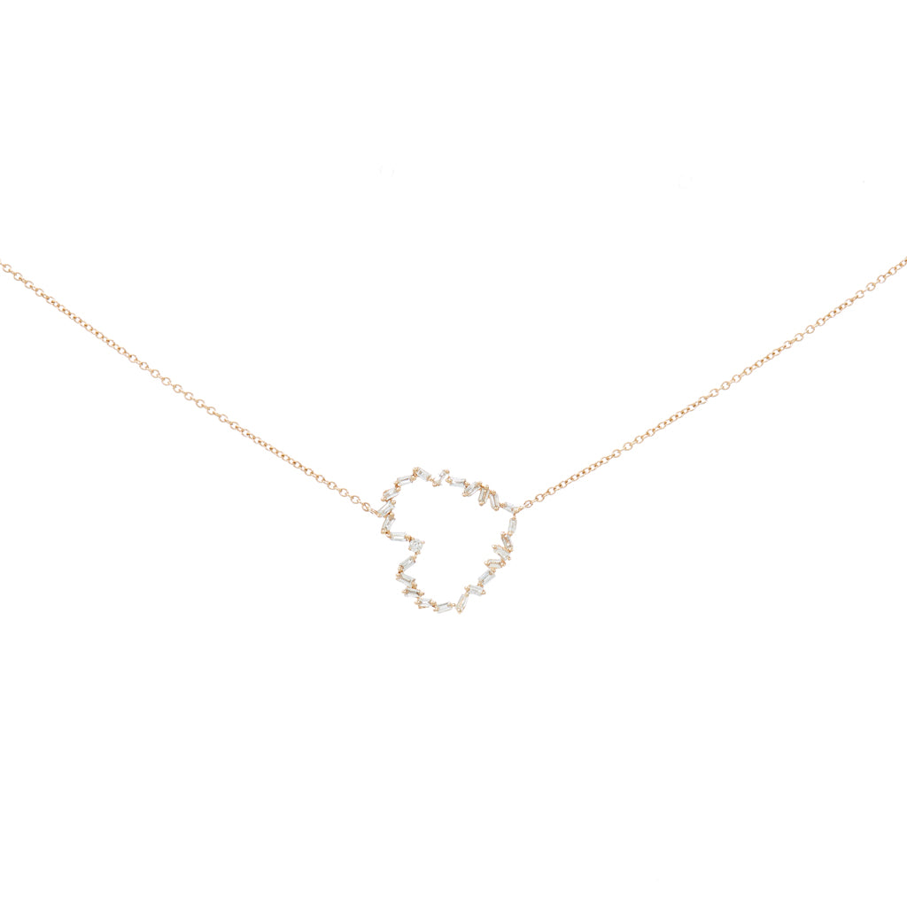 Baguette Heart Silhouette Necklace