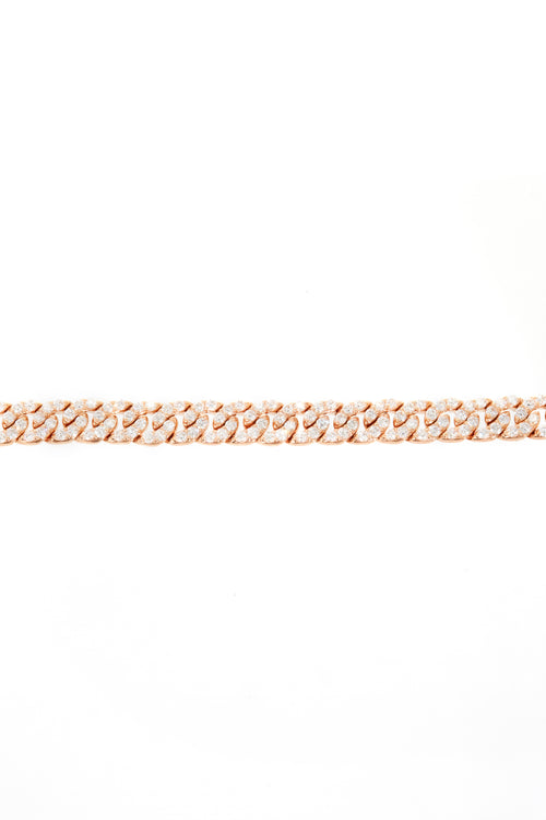 18K Flat Link Madison Diamond Bracelet