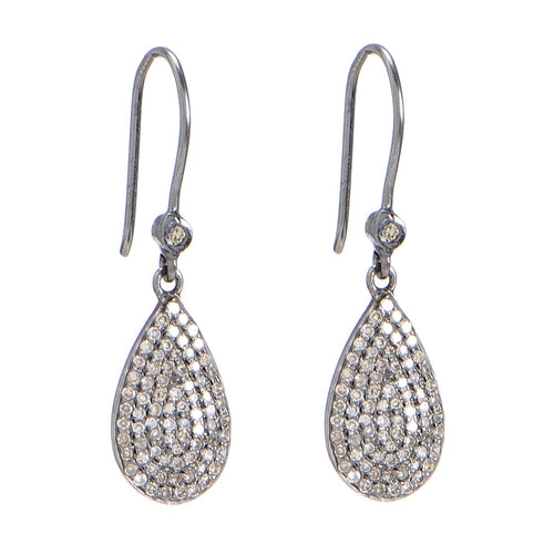 Pave Diamond Teardrops