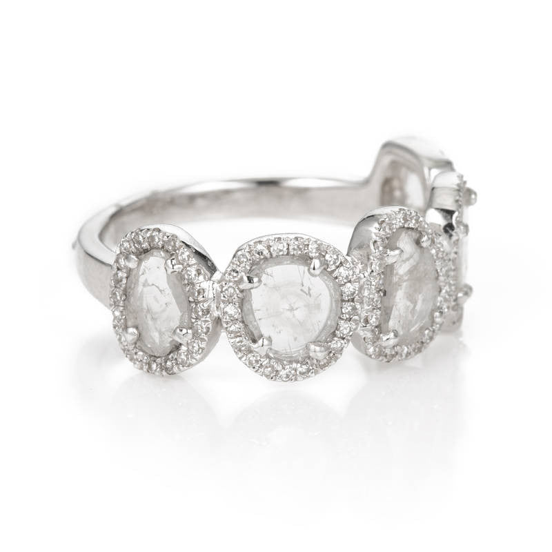 Five Slice Diamond Ring