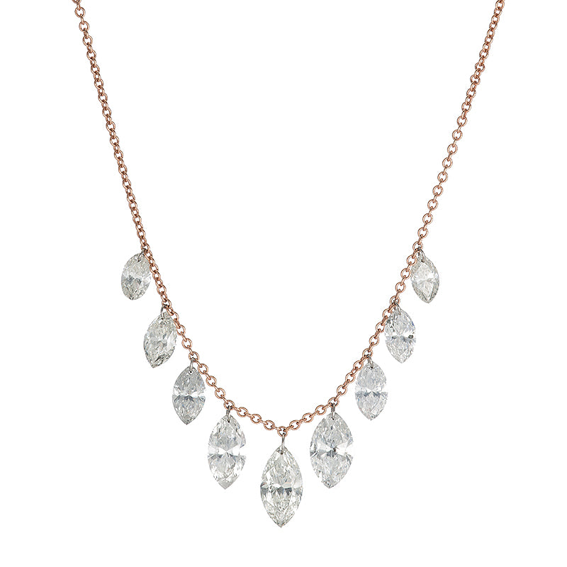 Waterfall Marquis Diamond Necklace
