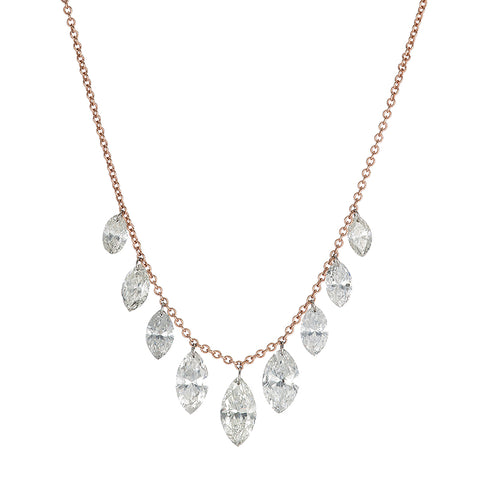 Neptune Floating Diamond Necklace