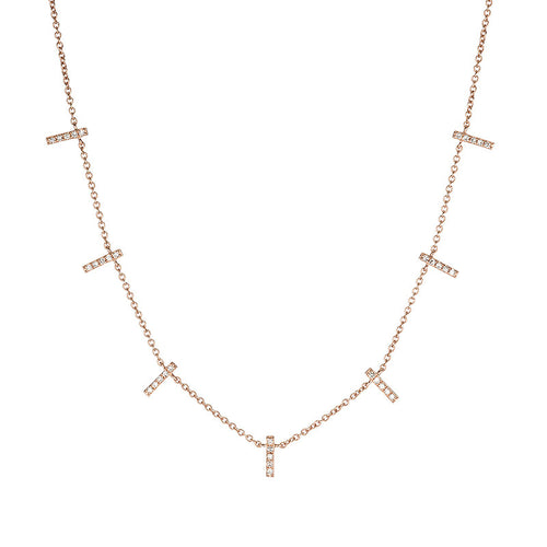 Pave Demi Stick Necklace