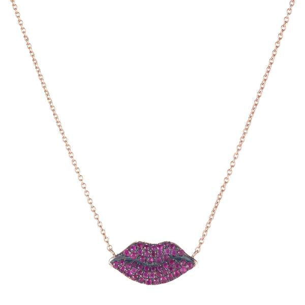 Ruby Lip Necklace