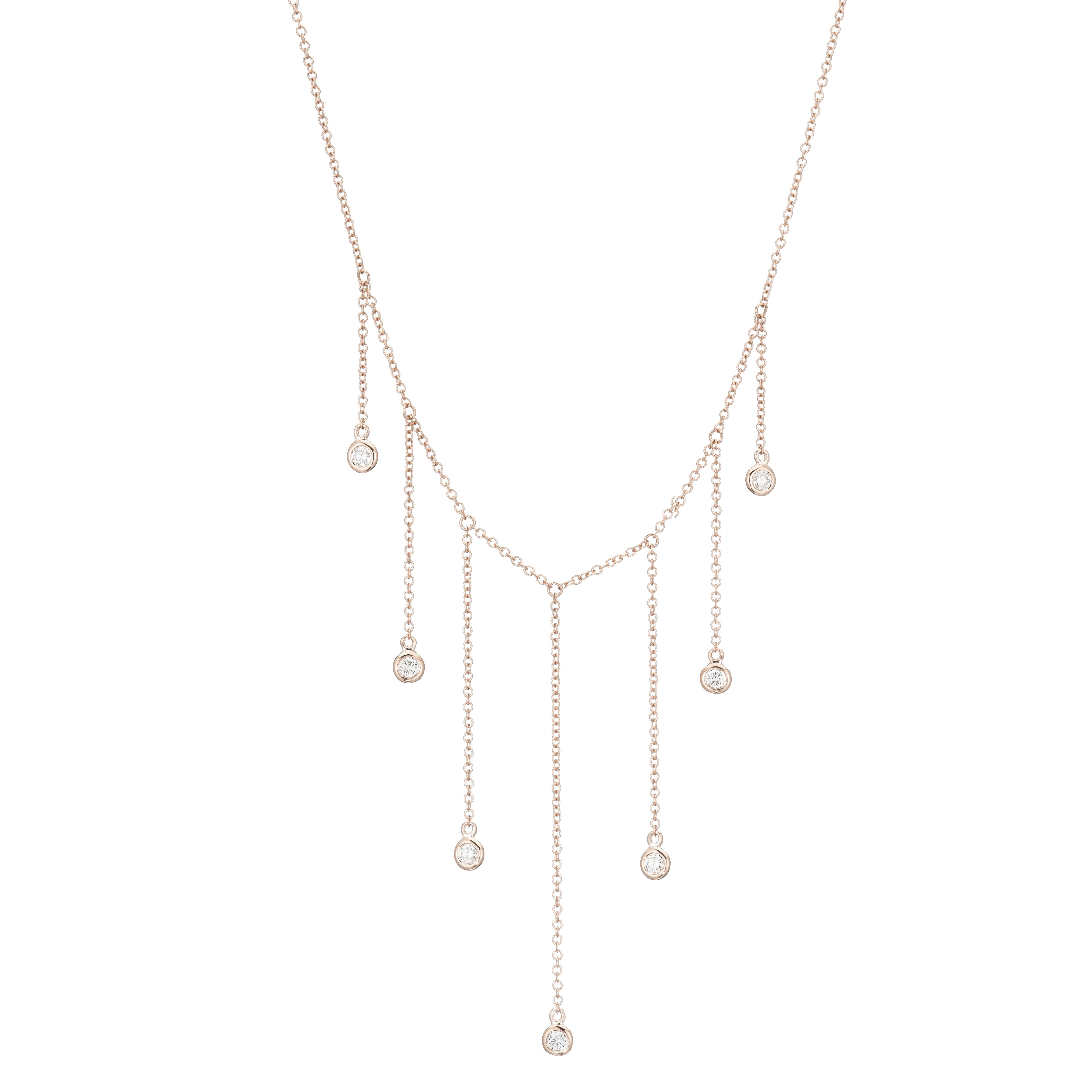 Demi Diamond Droplet Necklace