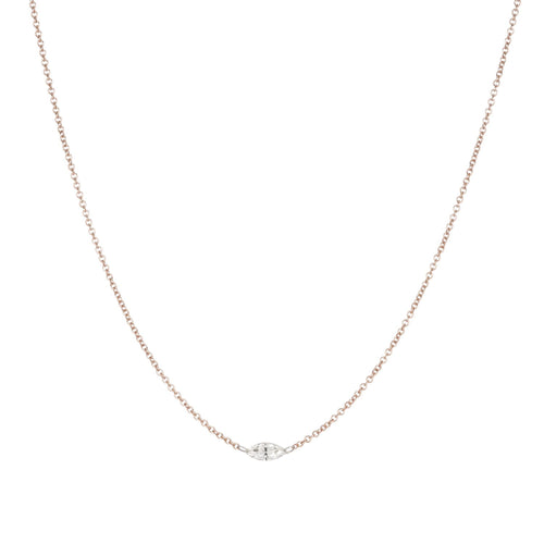 Floating Marquis Diamond Necklace