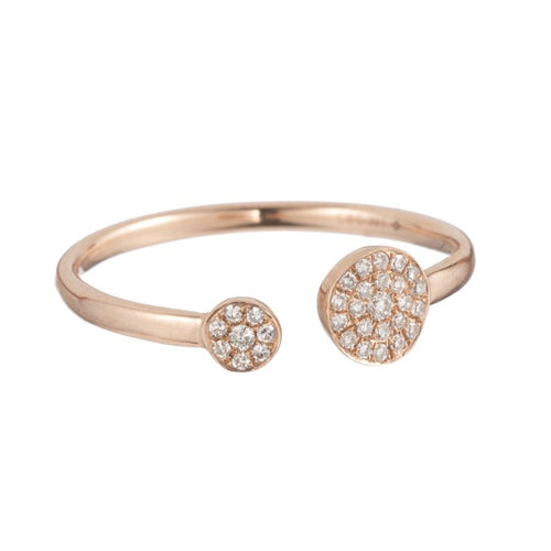 Pave Double Disc Ring