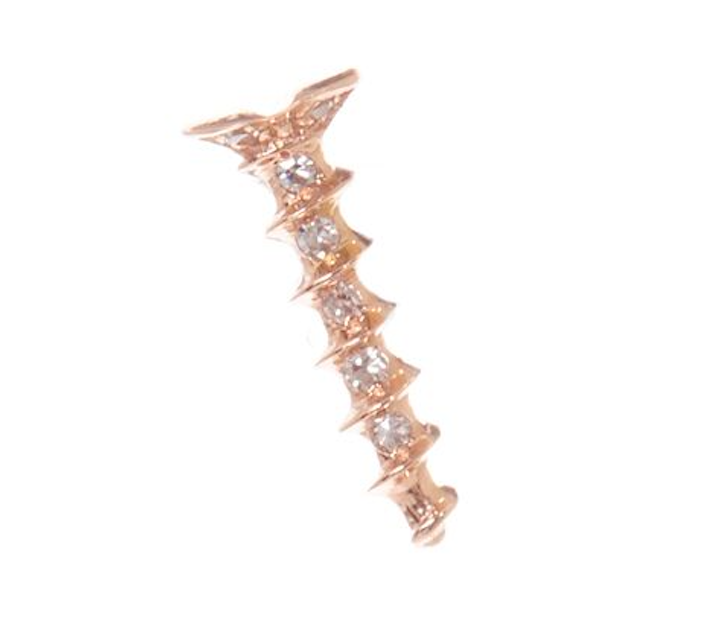 Gold Pave Dagger Studs