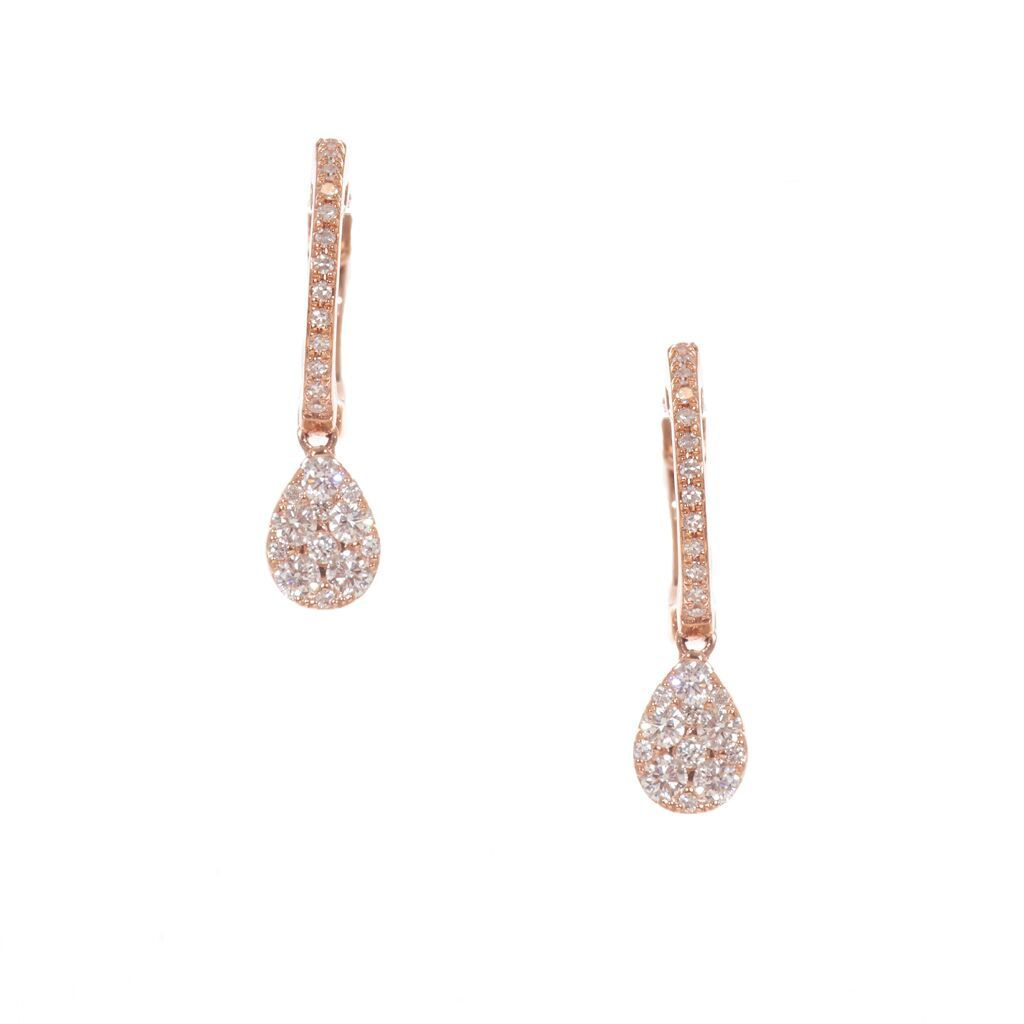 Teardrop Diamond Drop Earrings