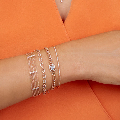 Rose Gold Baguette Diamond Bracelet