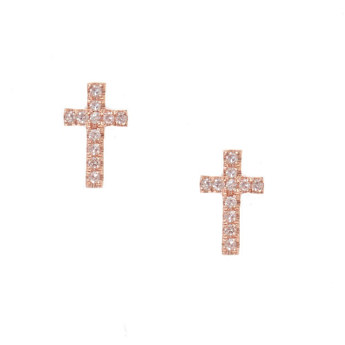Pave Cross Studs