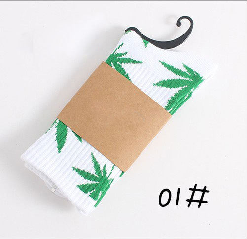 Leaf Pattern Tree Socks (Unisex)