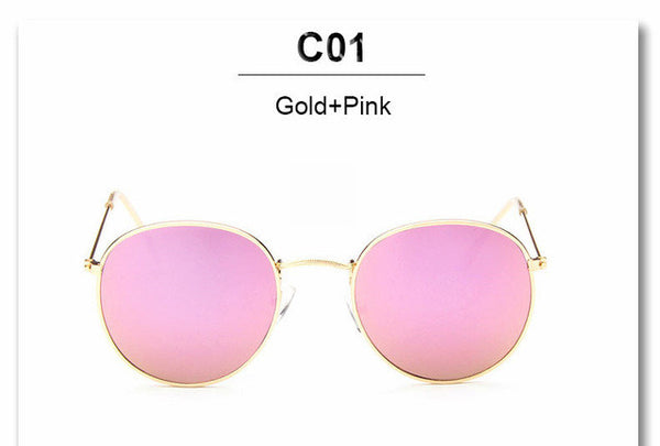 Luxury Vintage Round Sunglasses Women